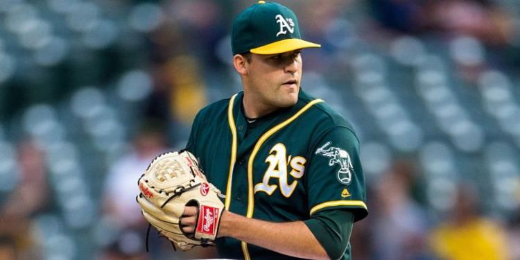 Andrew Triggs Oakland's starting pitcher for A's vs. Cardinals