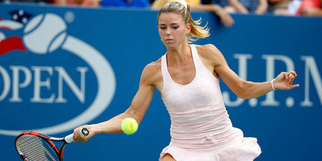 Camila Giorgi playing tennis
