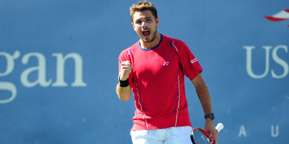 Stan Wawrinka celebrating