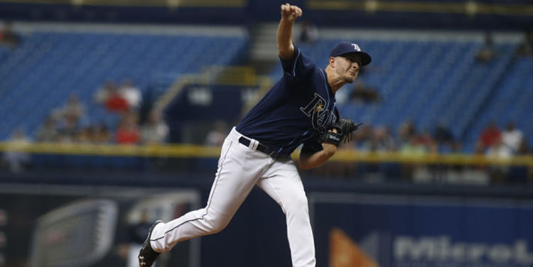 Jake Odorizzi in action