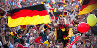 Germany fans cheering for team
