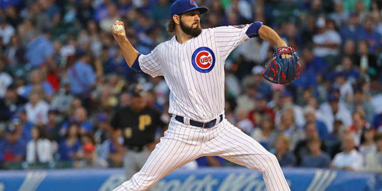 Cubs' pitcher Jason Hammel in action