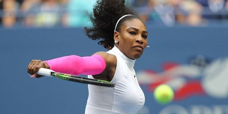 Serena Williams during a match in the US Open
