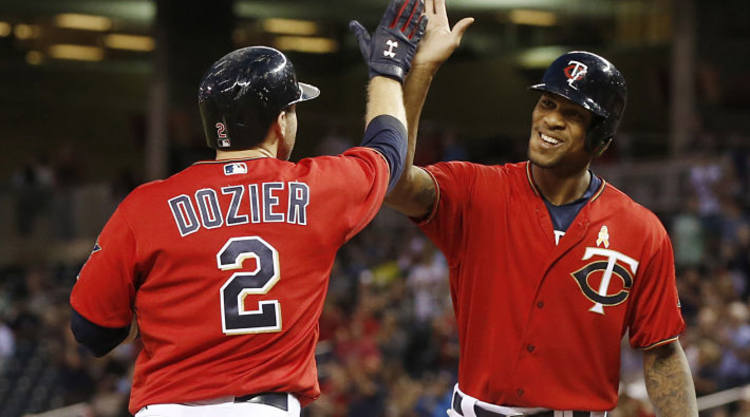 Brian Dozier Celebrates Another Run