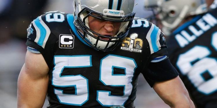Panthers Player Luke Kuechly in Super Bowl 50