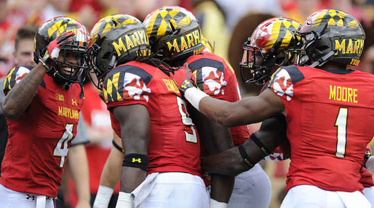 Maryland Terrapins Celebrate Touchdown