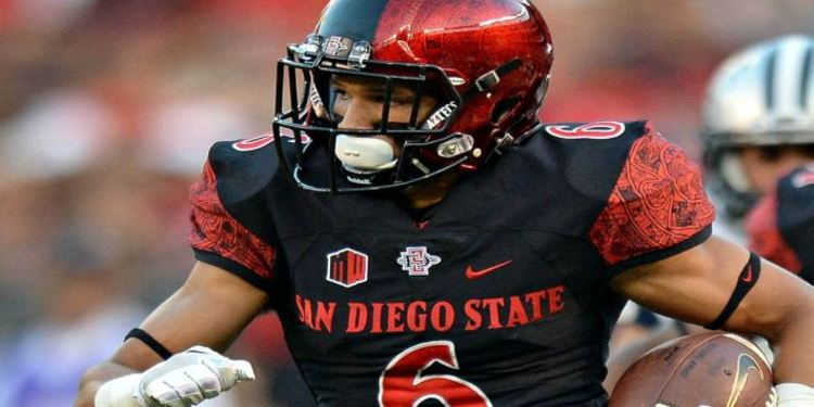 San Diego State Aztecs Player Holding Football
