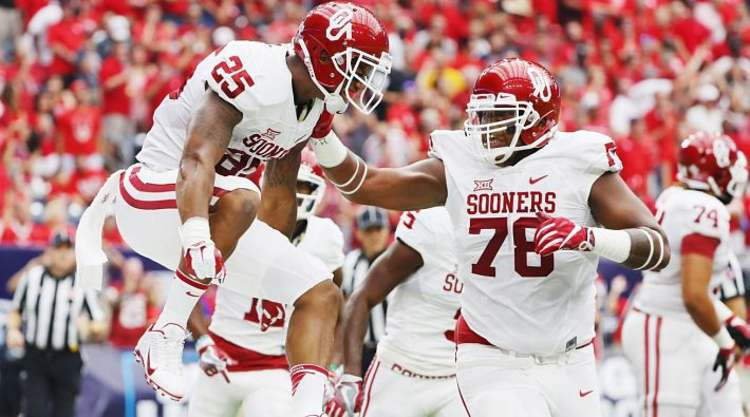 Oklahoma Sooners Player Jumps For Joy