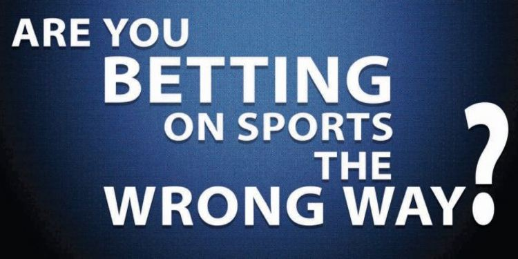 Blue background and text that reads: Are you betting on sports the wrong way?