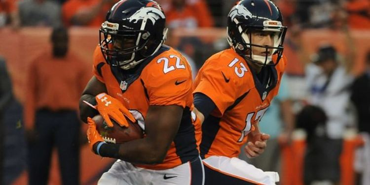 Denver Broncos players in action