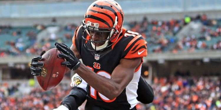 Bengals player AJ Green in action