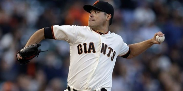San Francisco Giants' Moore pitching