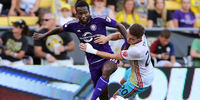 Orlando City vs. Columbus Crew 2 players against each other at a previous game