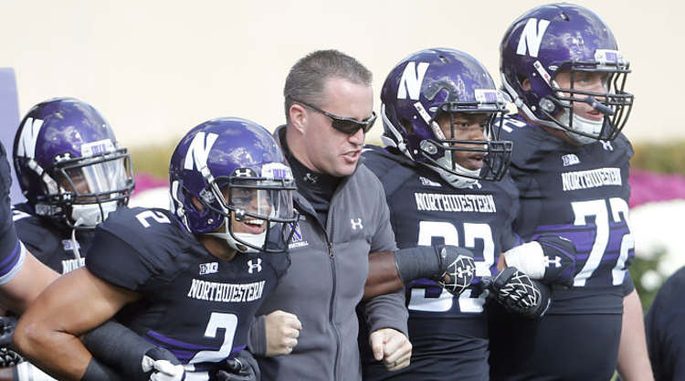 Northwestern Wildcats Players Arm in Arm