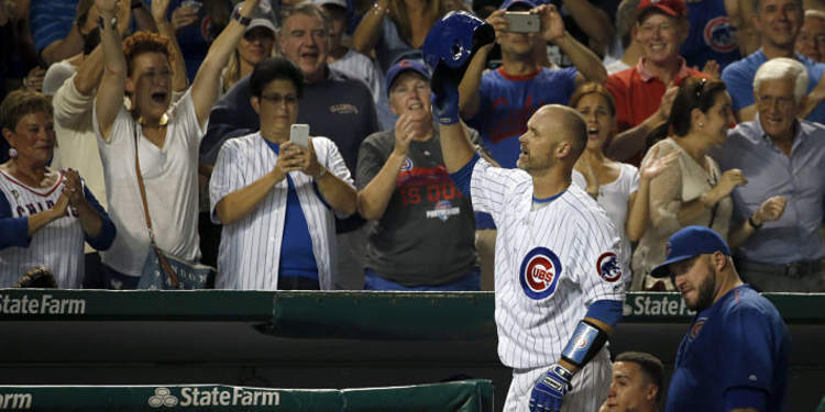 Cubs David Ross Homers in Wrigley Field