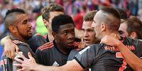 Bayern Munich celebrating after a game