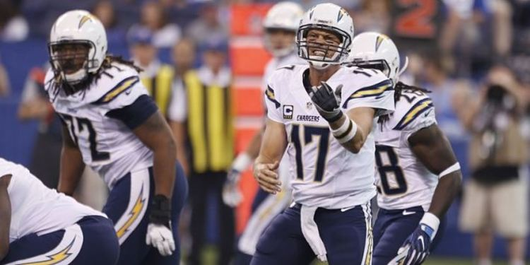 San Diego Chargers players in action