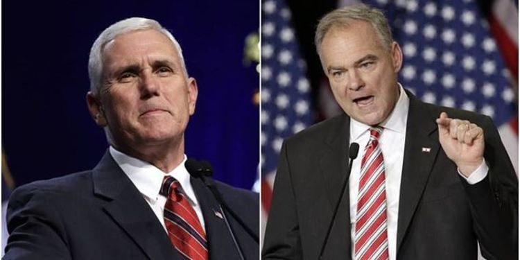 Kaine and Pence VP candidates