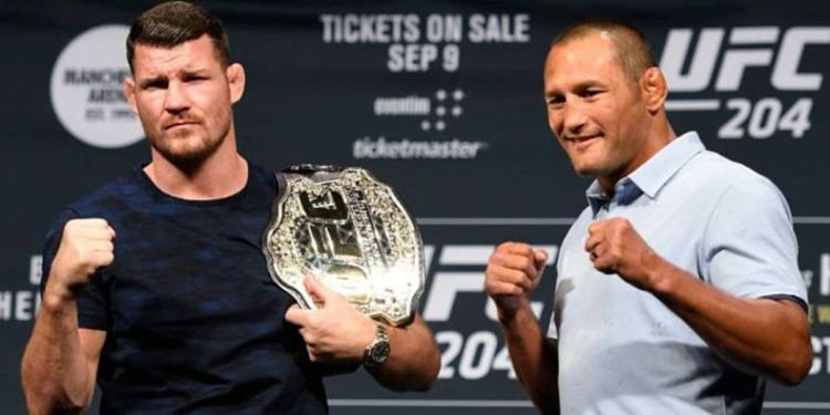 Dan Henderson and Michael Bisping at press conference