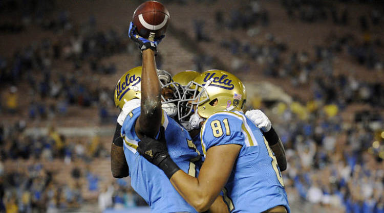 UCLA Bruins Players Celebrate TD
