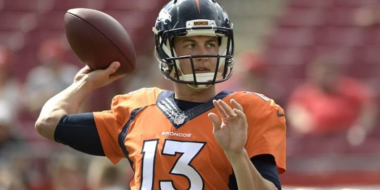 Broncos QB Trevor Siemian in action