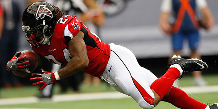 Atlanta Falcons player in action