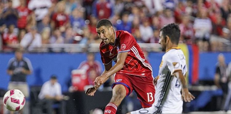 Tesho Akindele in action against LA Galaxy