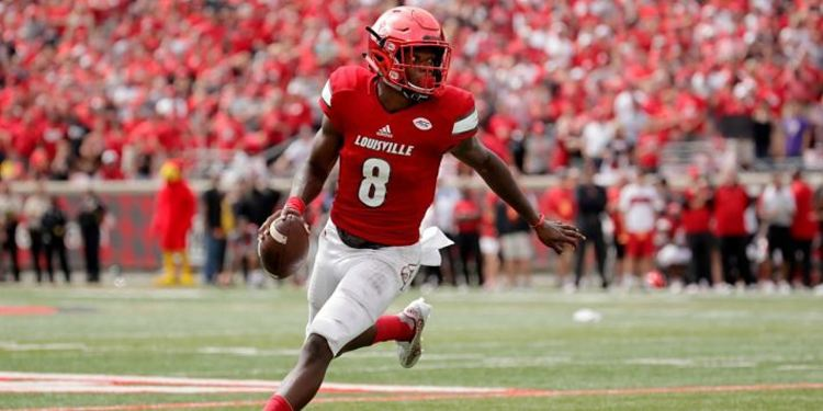 Lamar Jackson Running With Ball