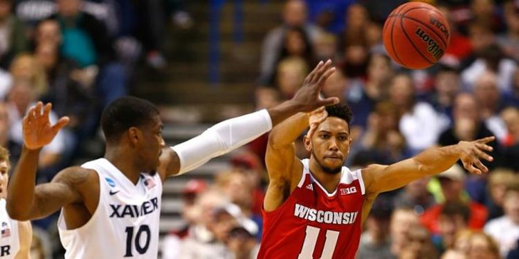 WISCONSIN BADGERS: Wisconsin made it back to the Sweet 16 with a three-point win over Xavier.