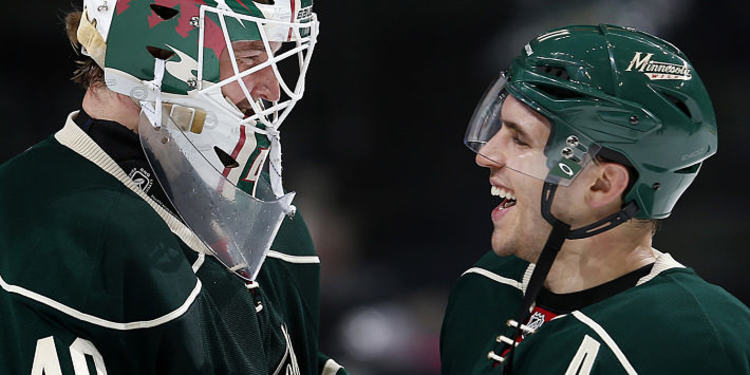 Minnesota Wild Players Smiling