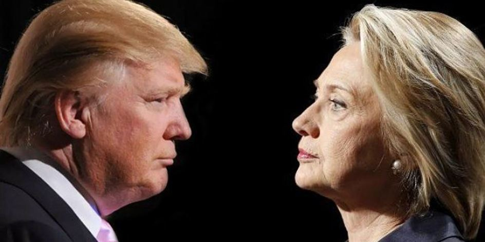 Both US presidential candidate facing each other