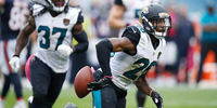 Jacksonville Jaguars players in action