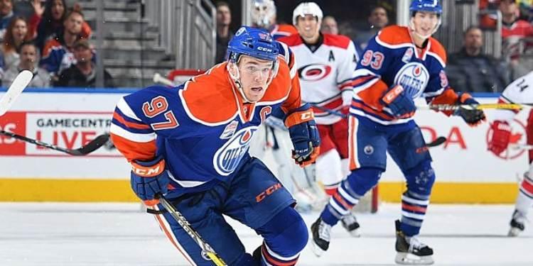 Connor McDavid #97 of the Edmonton Oilers skating