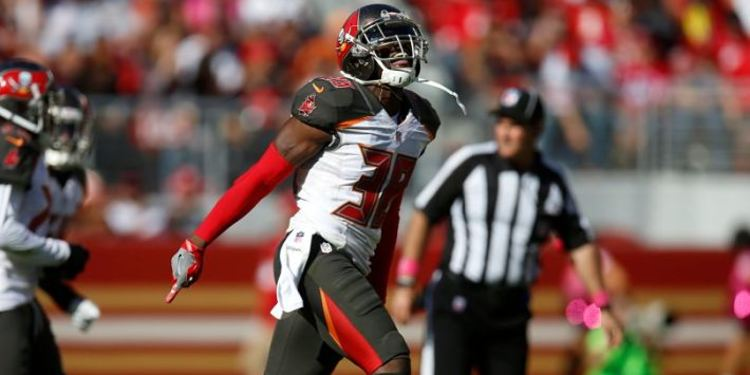 Tampa Bay Buccaneers player celebrating