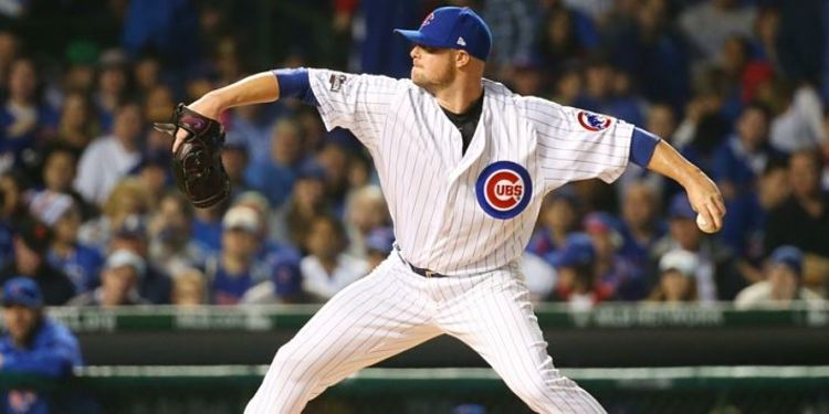 Jon Lester in action