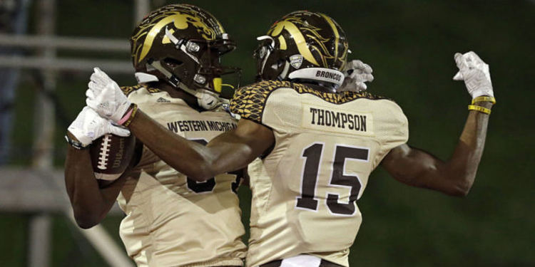 Western Michigan players celebrating