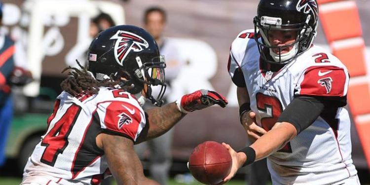 Atlanta Falcons players in action