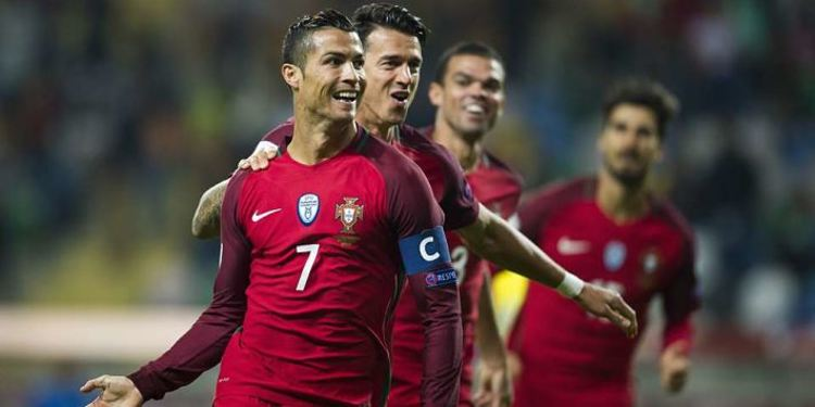 Portugal players celebrating