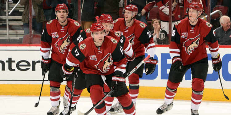 Arizona Coyotes players in action