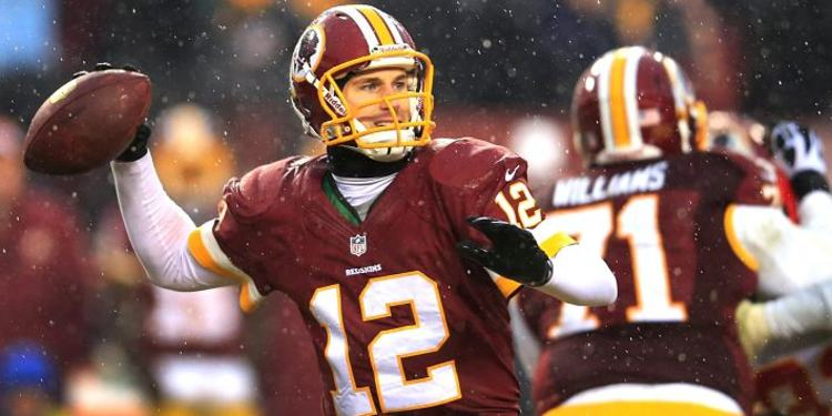 Kirk Cousins Throwing Football In Snow