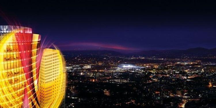 Europa League - night city landscape
