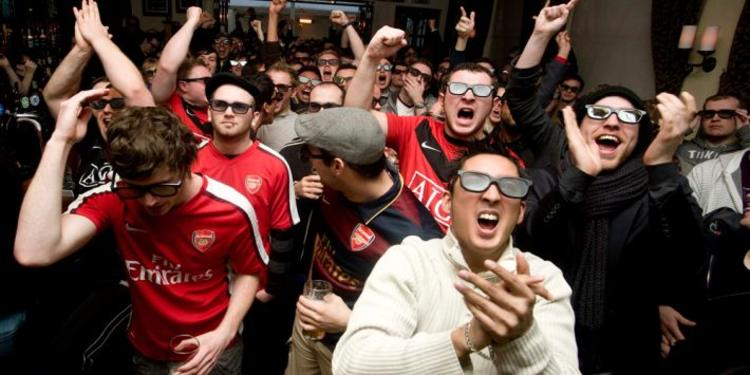 Premier League Fans Celebrating