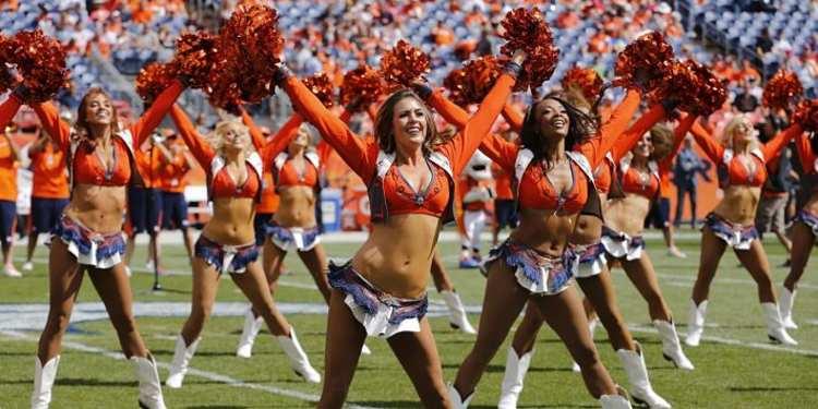 Denver Broncos Cheerleaders Dancing