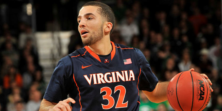 Virginia Cavaliers Player With The Ball