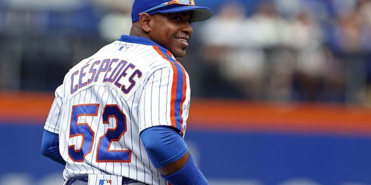 Mets player Yoenis Cespedes