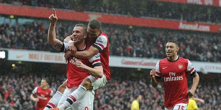 Arsenal FC players celebrating