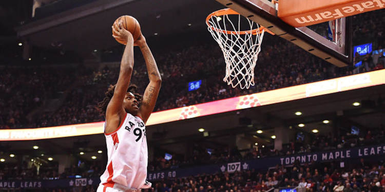 Toronto Raptors Player Dunking