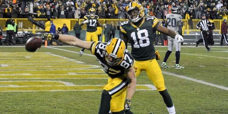 Green Bay Packers player in action