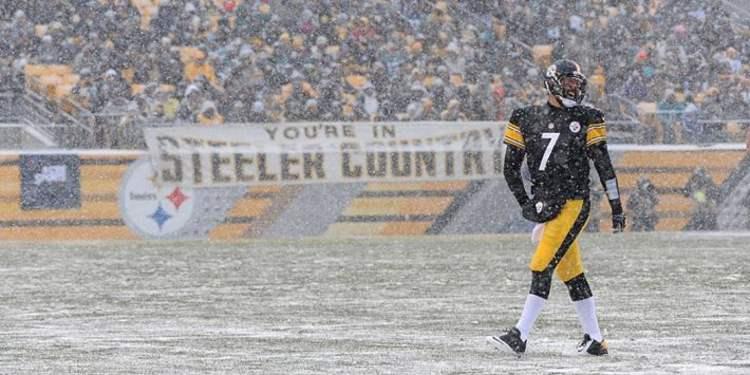 Ben Roethlisberger In The Snow