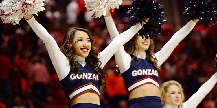Gonzaga Bulldogs cheerleaders